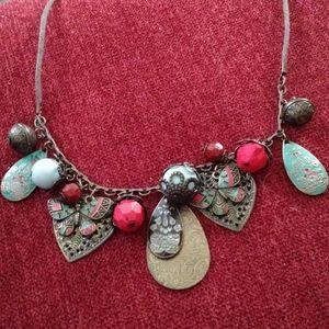 light weight brass necklace